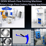 wheel flow forming and rotary forging machines